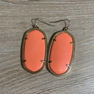 Kendra Scott | Danielle Drop Earrings | Coral